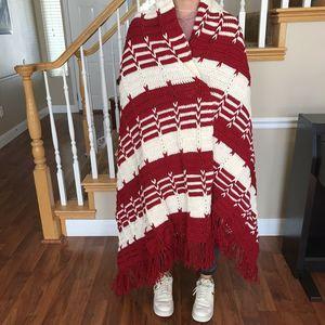 Vintage Handmade Crocheted Afghan throw